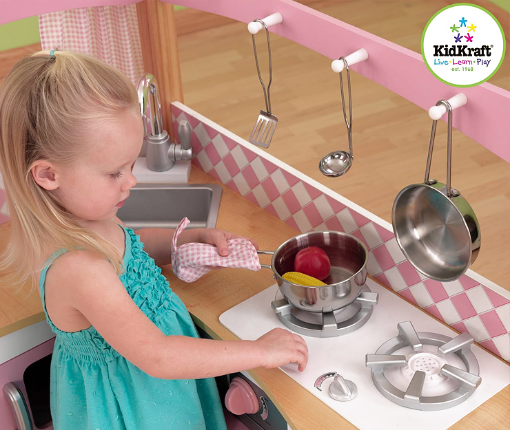 Kids play kitchens best reviews and sales - Kidkraft grand gourmet rot ...